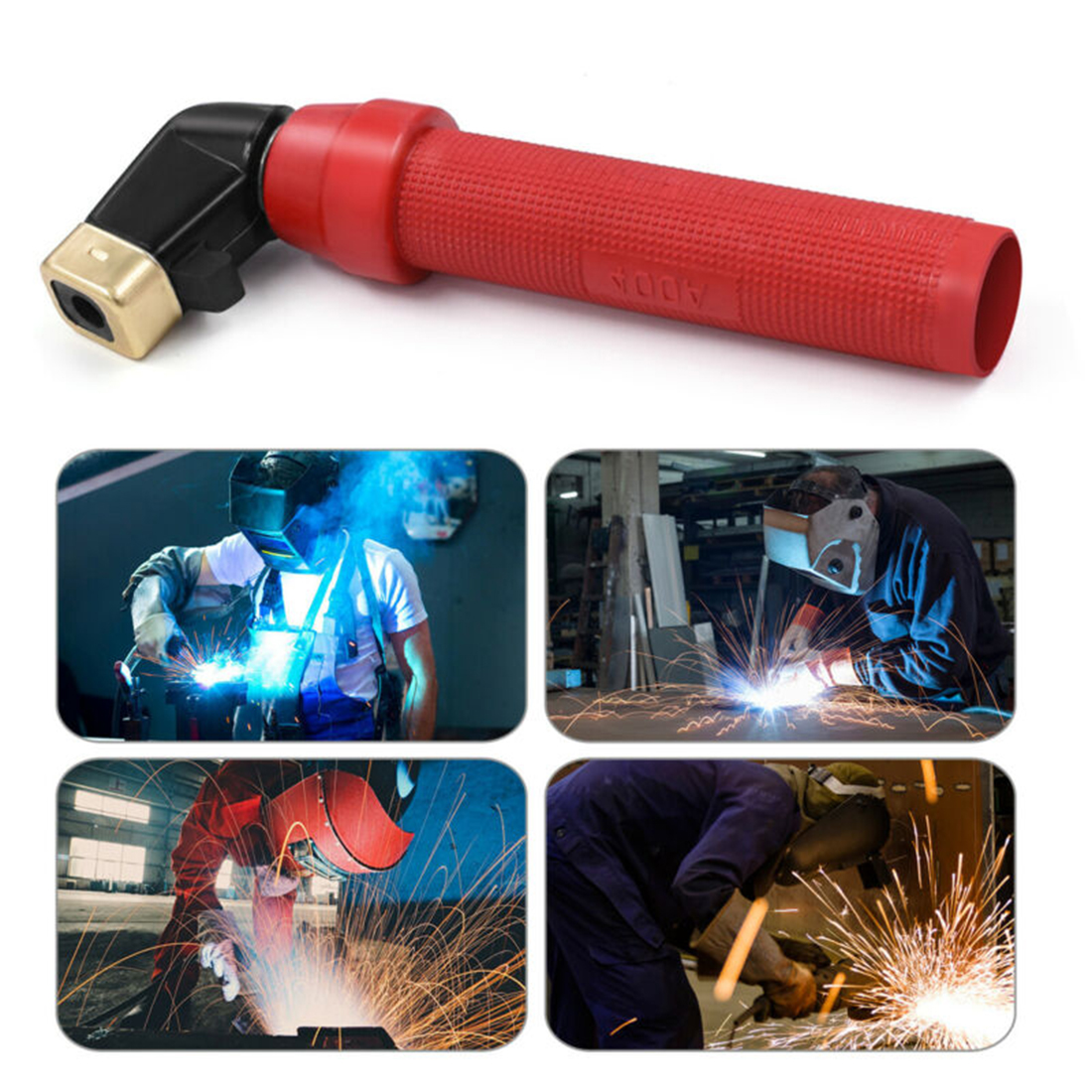 HITBOX 300A 400A Electrode Weld Holder MMA Welding Accessories ARC Welding Holders Tool Red 380V ARC Welding Holder