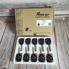 10 pcs/Lot Xhorse XKTO02EN Wired Universal Remote Key for Toyota Style Flat 4 Buttons for VVDI2 VVDI Key Tool(China)