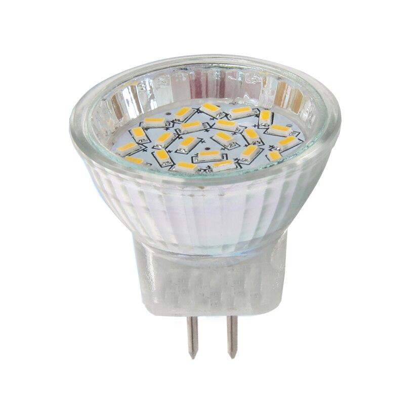 4 x GU10 24 Smd 5050 LED bombilla = 60 W halógeno con cubierta de vidrio 3000k Blanco Cálido