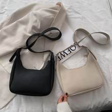 Sac à main d'épaule à glissière en cuir de rue en cuir d'unité centrale Mini sac à bandoulière décontracté rétro femme sac à bandoulière Simple