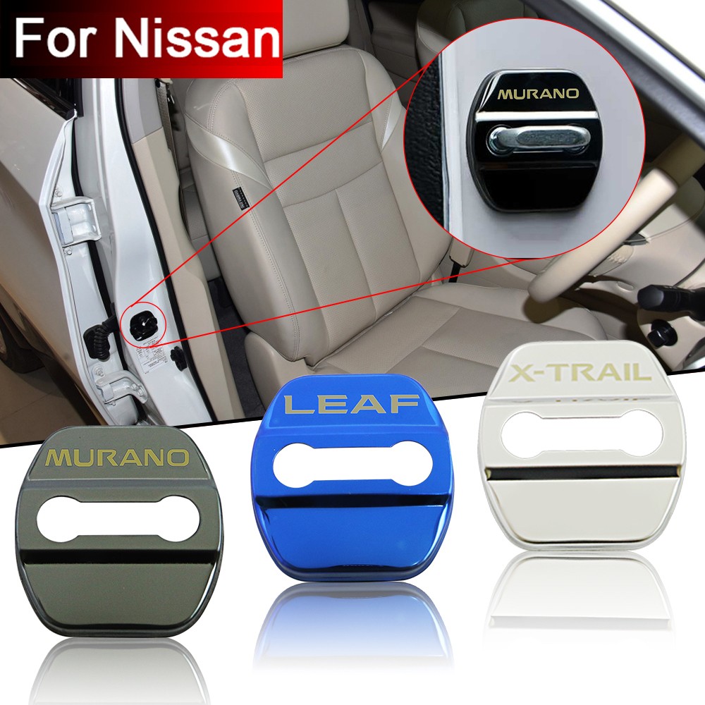 Car door lock Car sticker for Nissan ALTIMA JUKE LEAF MAXIMA MICRA MURANO NOTE PULSAR QASHQAI SENTRA SYLPHY TEANA X-TRAIL TIIDA