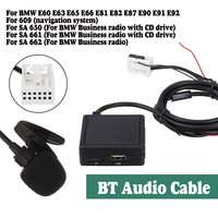Auto Modulo Bluetooth per Bmw E60 E63 E65 E66 E81 E82 E87 E90 Bluetooth 5.0/Sd/Mic/ usb/Aux 5 Modalità di Ingresso Audio Ricevitore