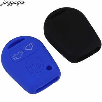 jingyuqin Remote 3 Buttons Car Key Silicone Cover Skin Case For BMW E31 E32 E34 E36 E38 E39 E46 Z3 image