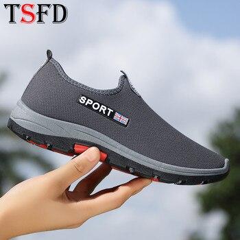 Zapatillas deportivas sin cordones para hombre, zapatos deportivos de malla para caminar,...