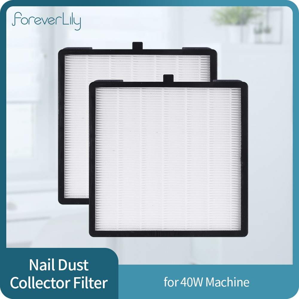 1/2 Pieces 40w Nail Dust Collector Filter Manicure Machine 858-13 Original Accessories Screen Plate Suction Nail Vacuum Cleaner