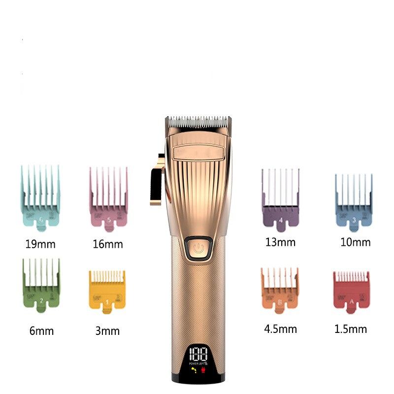 sliver aparador de cabelo dos homens display 04