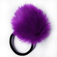 2pcs/lot Cute Big Pompon Hair Bands Fur Ball Pom Girls Children Elastic Hair Bands Ponytail Holder Rubber Bands Hair Accessories