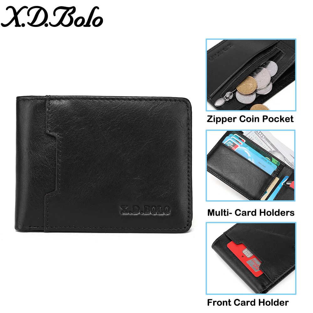 XDBOLO جلد أصلي للرجال محفظة المحافظ محفظة نسائية للعملات المعدنية الذكور الصغيرة Portomonee Bifold محفظة جلدية رجل محفظة للرجال حقيبة المال