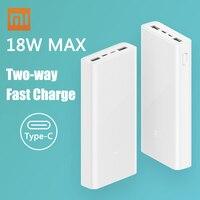 Xiaomi Original Mi Power Bank 3 2C 20000mAh USB C 18W Two Way Fast Charge QC 3.0 Dual USB Type C Portable Charger Powerbank