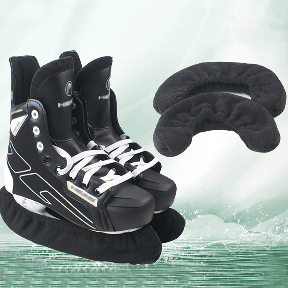 1 Pair Ice Hockey Blade Cover Skate Blade Guards Soft Terry Cloth For Ice Skates Hockey Extreme Walking Soaker Skate Soakers