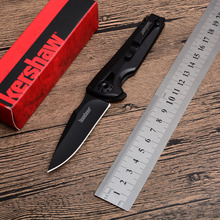 Kershaw1988 folding knife 8CR13MOV blade all steel handle pocket outdoor camping hunt Tactical Survival knives EDC tools