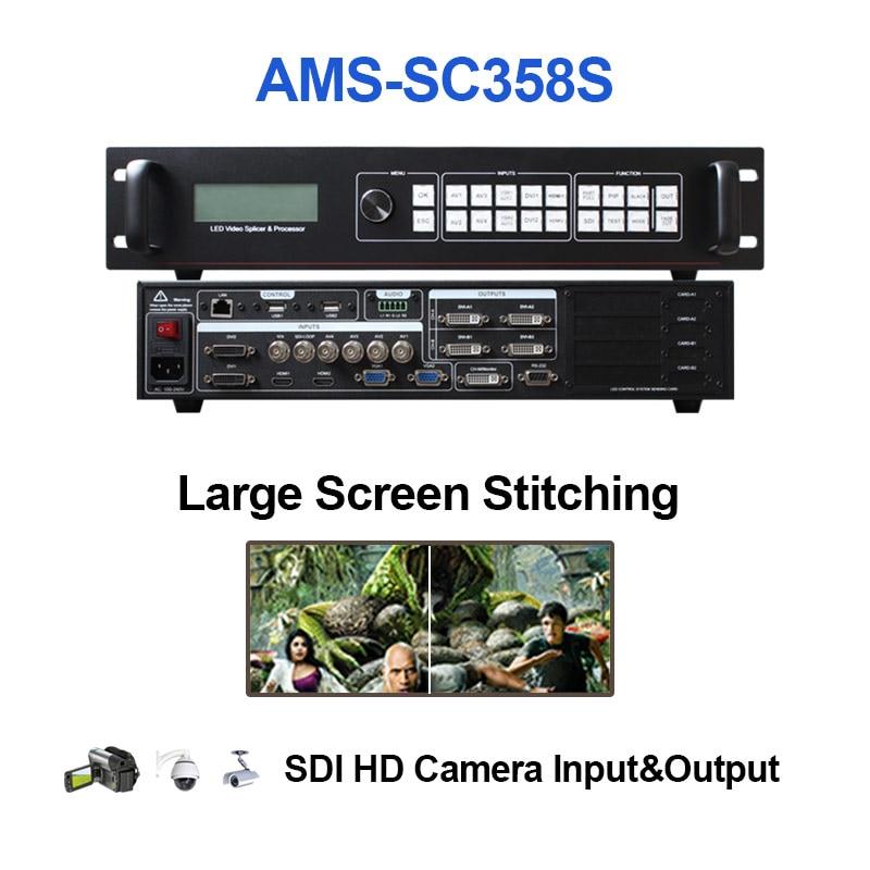 Светодиодный прозрачный видеоскалер AMOOONSKY SC358 sdi для экрана, огромный экран Novastar linsn absen, светодиодный дисплей p4 p10 p3.91 p8
