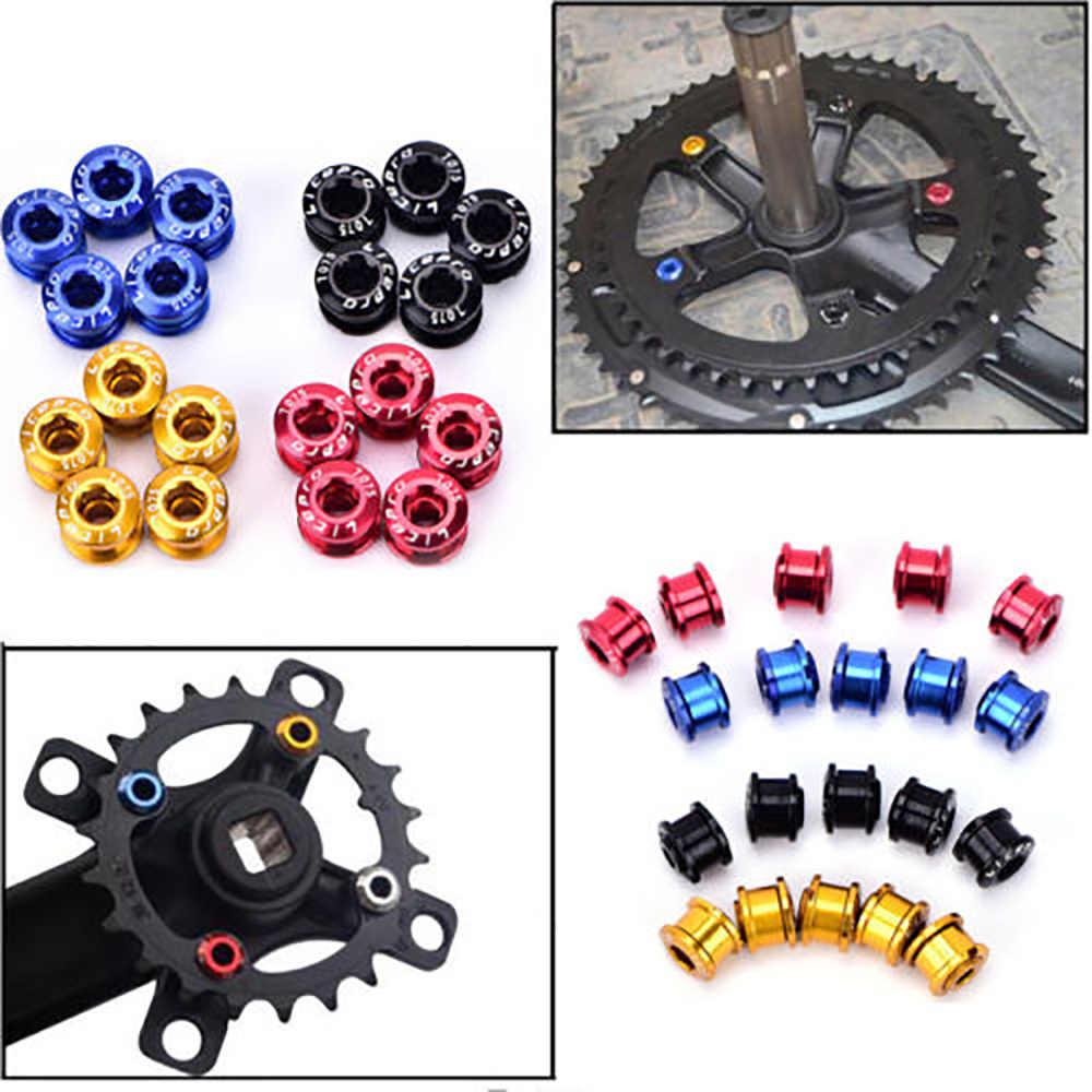 Bicycle Chainwheel Bolts 7075 Aluminum Alloy CNC MTB Road Bike Chainring Screws