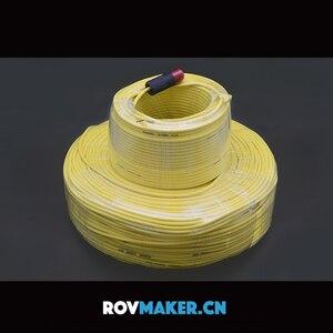 Image 2 - ROVMAKER sıfır yüzdürme kablosu 2 çekirdekli erkek kafa sualtı robot göbek kablosu kablosu su mühür bağlayıcı 2x26AWG
