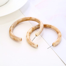 Big Boho Acrylic Hoop Earrings for Women 2020 Fashion Bohemia ZA Acetate Resin Circle Statement Hoops Korean Earrings Jewelry