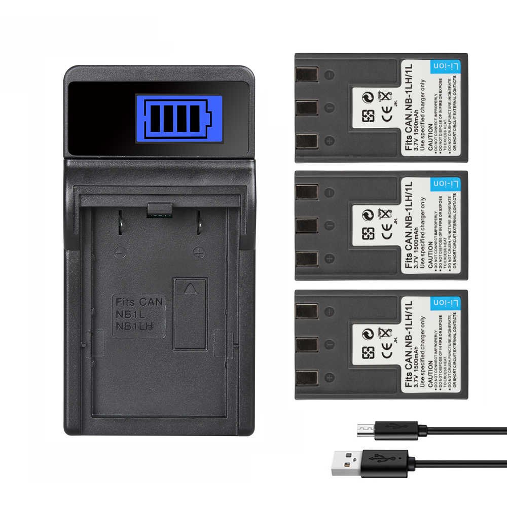 Batería Para CANON NB-1L NB-1LH NB1L NB1LH