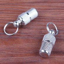 Pet Dog Cat ID Tags Address Label Barrel Storage Tube Silver Identification Card Pet Pet Supply Silver Aluminum Alloy ID Tag(China)