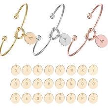 Bracelet avec initiales pour petite amie, femme et fille, cadeau de saint-valentin, Souvenir de mariage, cadeau de fête