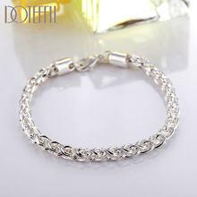 DOTEFFIL – Bracelet torsadé en argent Sterling 925 de 6MM pour femmes, bijoux à breloques de fête de fiançailles et de mariage, à la mode