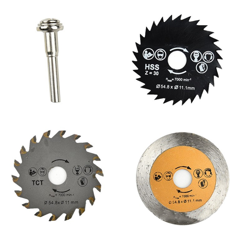 3PC Electric High-Speed Steel Small Saw Set Cutting Disc Handle Clamp 6MM Handle Cross Border