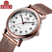 OLMECA top brand fashion trend men women smart watch mesh le
