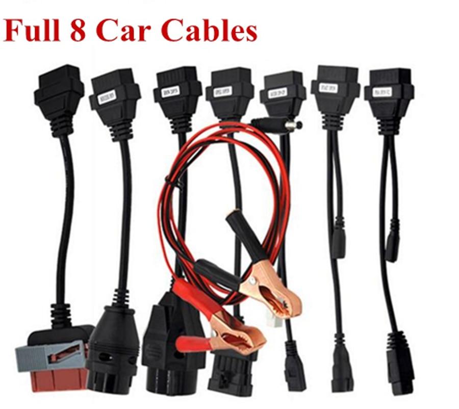 2019 obd2 scanner tcs cdp pro for delphi ds150e 2016R0 keygen bluetooth obd diagnostic tool +8 pcs car cables for autocom