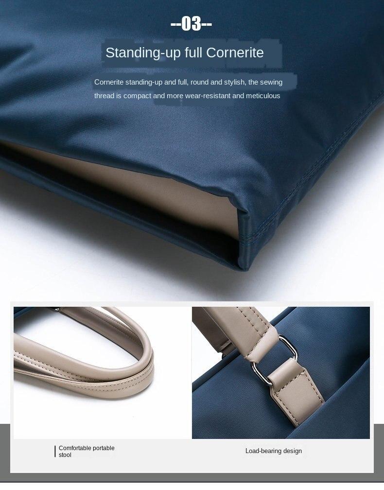 de moda negócios maleta oxford pano horizontal casual saco