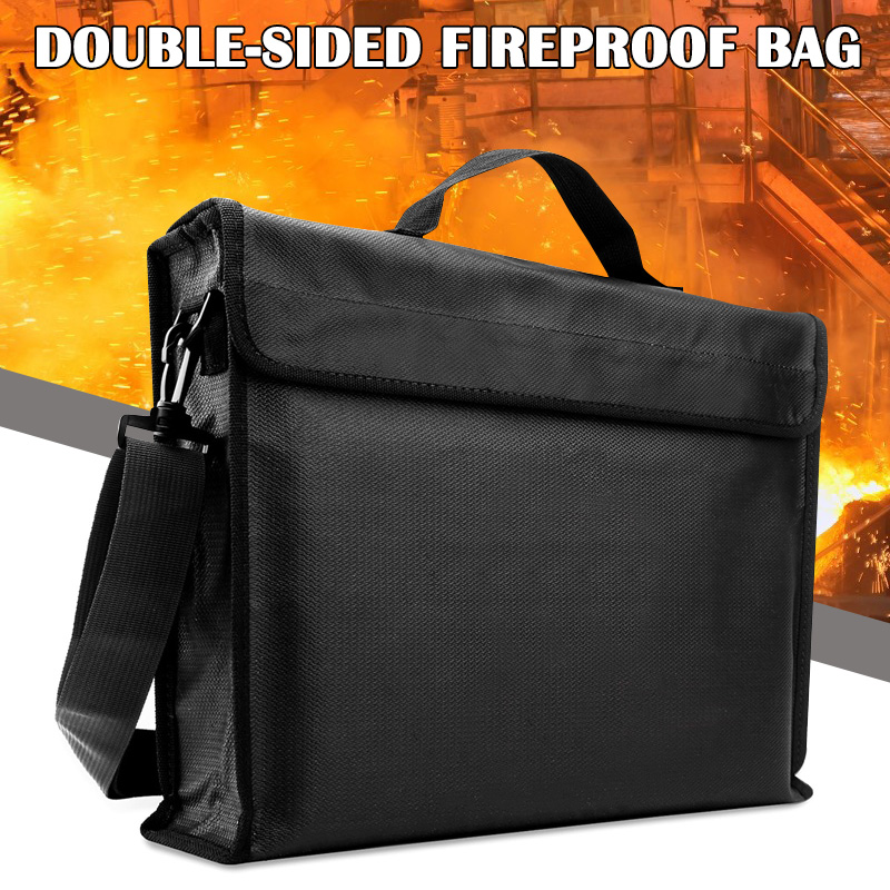 Fireproof Document Bag Waterproof Money Cash File Pouch Safe Holder For Office SP99