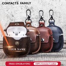 Luxury Genuine Leather Cover Headphone Case For Airpods Case For Apple AirPods 2 Case Air pods Earpods Accessories Earphone Bags