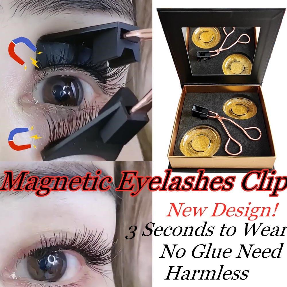 NEW DESIGN Handmade Magnetic Eyelash Curler With Quantum Soft Magnetic False Eyelashes Set Easy To Wear Magnetic Lashes Set
