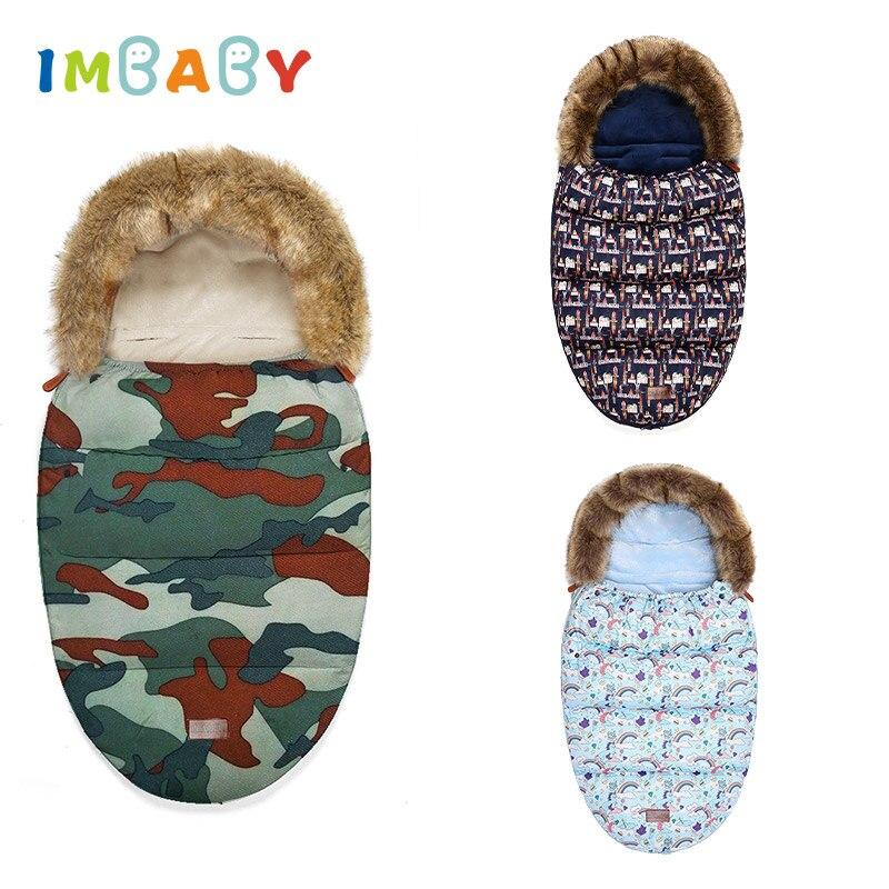 IMBABY Baby Sleeping Bag Baby Stroller Accessories Footmuff Sleepsack Cotton Baby Sleeping Bags Winter For Baby Stroller