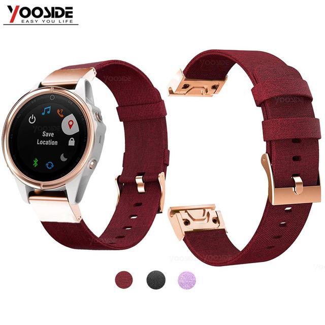 YOOSIDE for Fenix 6S Wristband 20mm Quick Fit Woven Nylon Canvas Watch Band Strap for Garmin Fenix 5S/5S Plus/Fenix 6S Pro