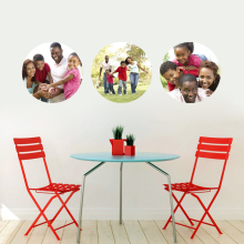 Custom Circle Photo Personalized Printed Wall Decals Sticker Mural Family Portrait Art Room Decor