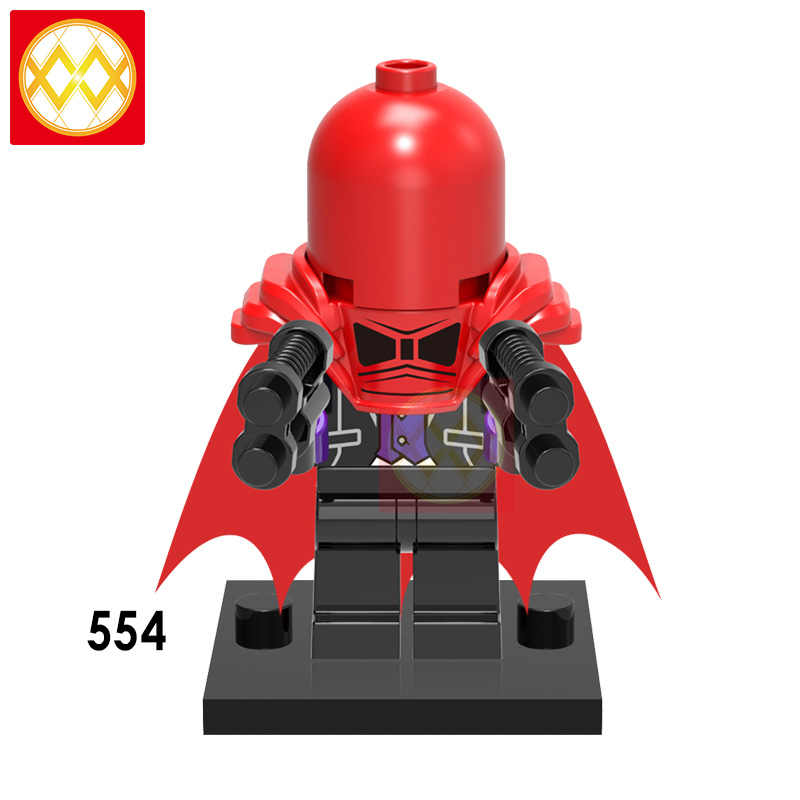 Cegły czerwony kaptur Joker Shazam DC bohaterów bat kto się śmieje batman morderstwo maszyna do ivy klocki działania prezent zabawki dla dzieci