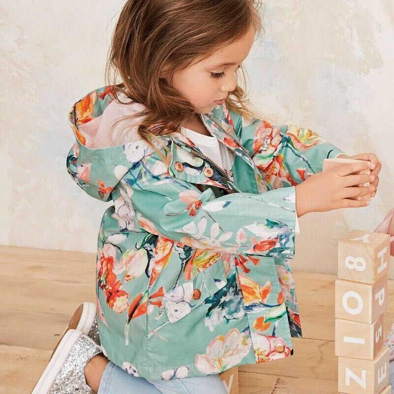 Menoea niños ropa chaqueta 2020 primavera y otoño Niñas Ropa gato patrón con capucha niños ropa 3-7 y bebé prendas de abrigo y abrigos