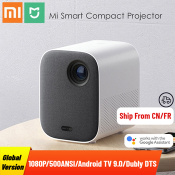 Global Version Xiaomi Mijia Projector 1080P Full HD Android TV 9.0 500ANSI 2.4G/5G WiFi Bluetooth Built In Google Assistant