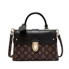 Модная кожаная сумка через плечо с принтом, Высококачественная портативная кожаная сумка-мессенджер в европейском и американском стиле