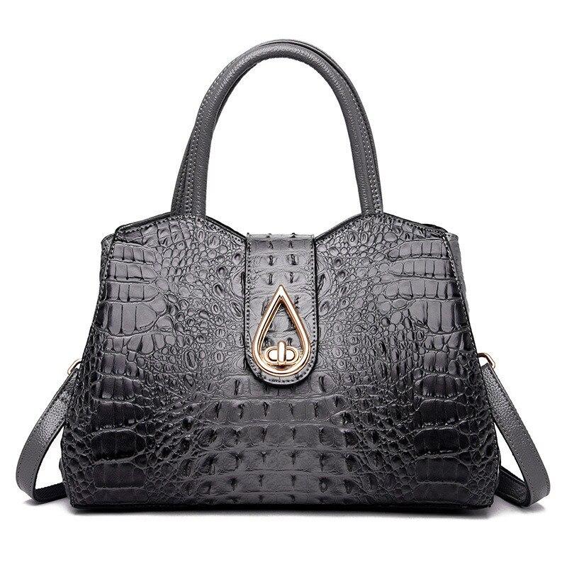 Fashion leather handbag 2019 summer new crocodile pattern ladies shoulder bag soft Messenger