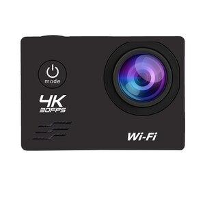Экшн-камера HD 4 K/60Fps Wifi 16MP 2,0 LCD 170D объектив шлем камера 30M Go Водонепроницаемая профессиональная спортивная камера видеокамера