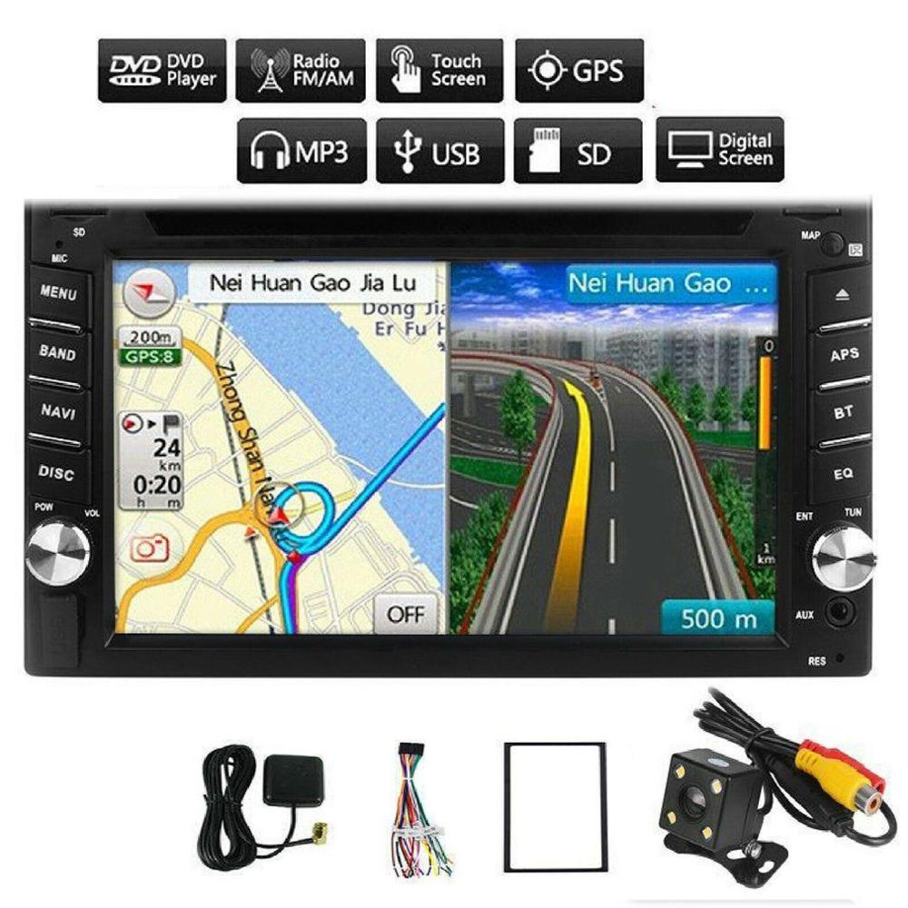 <font><b>6.2</b></font> <font><b>inch</b></font> Car Radio Navigation WITH Dual <font><b>2DIN</b></font> <font><b>GPS</b></font> Navi Wireless USB MP3 DVD CD Universal Car multimedia Player image