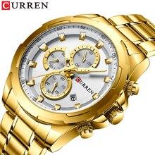 CURREN montre bracelet à Quartz pour hommes, Style décontracté, Date automatique, bracelet en acier inoxydable, nouveauté