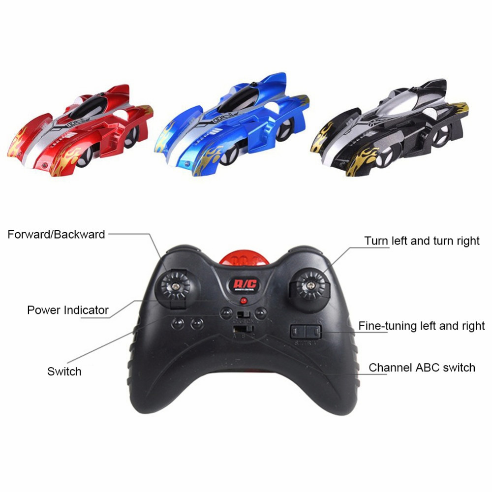 Image 5 - RC Car Wall Racing Car Toys with LED Lights Remote Control 360 Degree Rotating Stunt Anti Gravity Toy Car Model Gift for Kid-in RC Cars from Toys & Hobbies