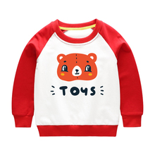 цена на Girl Hoodies Boys Sweatshirt  Autumn Baby-Boys-Girls Kids Children Tops Clothes Clothing Print Bear Cotton Cartoon Spring