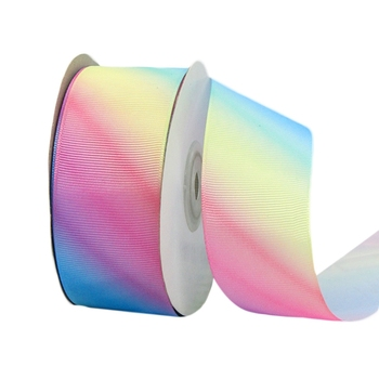 24 Yards Polyester Silk Light Gradient Rainbow Grosgrain Ribbon for DIY Crafts M89E 50 yards gradient rainbow grosgrain ribbon gift box flowers perfume red wine decoration apparel sewing diy bow ribbon