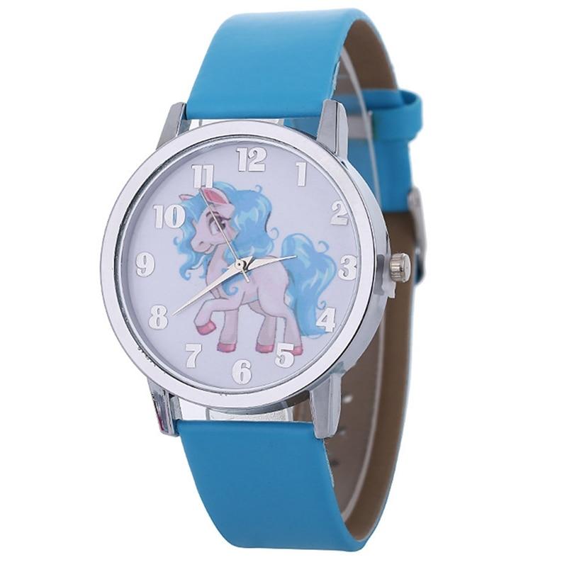 Unicorn Watch Children's Watch Carton Animal Kids Girls Leather Band Analog Alloy Quartz Watches Wristwatches