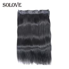 SOLOVE волосы бразильские Remy прямые волосы на заколках человеческие волосы для наращивания натуральный цвет 5 клипс/1 штука
