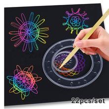 Ruler-Set Wheels Drawing-Toys Spirograph Educational Creative Interlocking Children