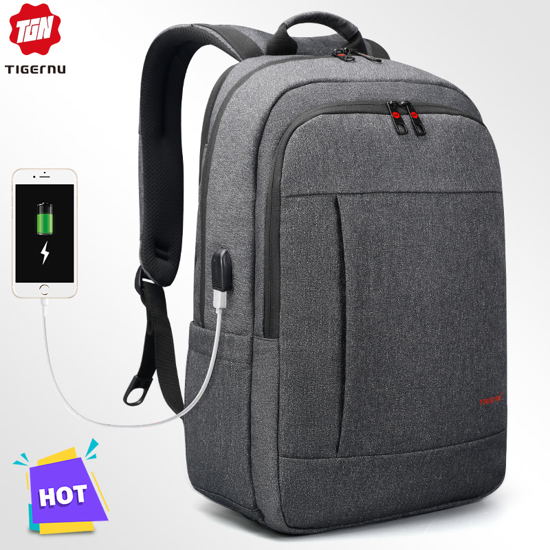 Tigernu Anti Theft USB Bagpack 15.6 To 17inch Laptop Backpack For Women Men School Bag Female Male Travel Mochila