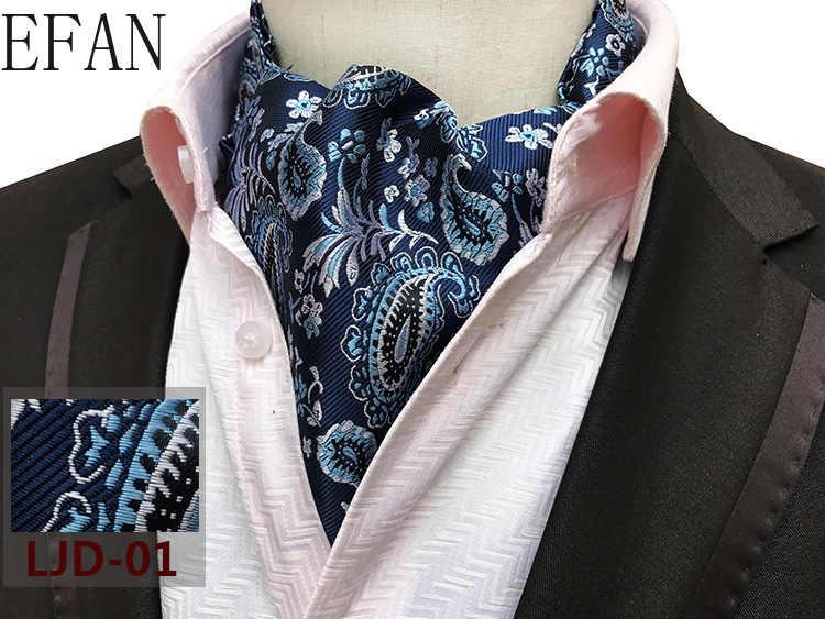 Erkek Paisley beyler İpek Cravat Ascot kravat mendil süper jakarlı ipek kravat kravat kravat ezme kendinden İngiliz tarzı