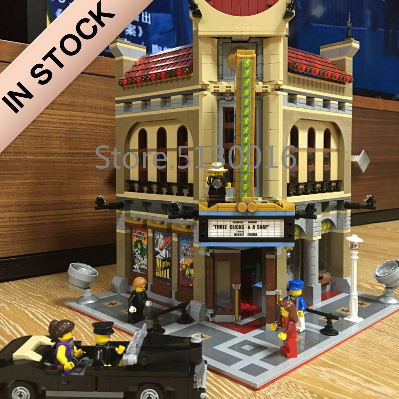 In Stock 10232 Creator Palace Cinema 15006 2404Pcs Street View Model Building Blocks Bricks 84006 15034 15037 15042 15001 Toys